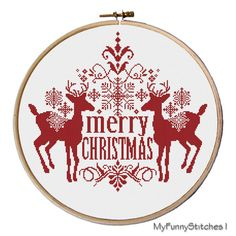 ● PATTERN DETAILS ● Christmas is one of the brightest and warmest holidays, when you and your family get together around the table, eat turkey and give gifts each other. Perhaps one of the best presents is handmade. Christmas Deer cross stitch helps you to show all your warm-heartedness and love to your relatives and intimates.  You can embroider Christmas Deer cross stitch during long winter evenings, remembering with smile the best moments of Christmas holydays. Moreover deal with this…