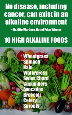 10 Cancer Fighting Alkaline Foods: Wheatgrass, Spinach, Kale, Watercress, Swiss Chard, Cucumbers, Avocados, Broccoli, Celery, Sprouts. Learn about alkaline rich Kangen Water; it's hydrogen rich, antioxidant loaded, ionized water that neutralizes free radicals that cause oxidative stress which can lead to disease such as cancer. Many medical experts use the water in the prevention and treatment of a variety of health issues. #Alkaline #Foods #Water #Health #Benefits