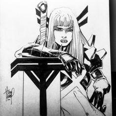 Magik by Adam Kubert Magik Marvel, Marvel X, Marvel Women, Comic Artist, Artist Art, Comic Book Pages, Comic Books, X Men, Marvel Drawings