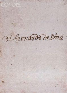 Leonardo da Vinci's signature.