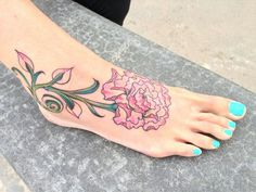 Carnation tattoo. Don't like the placement but I like the style
