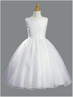 All White Communion Dress