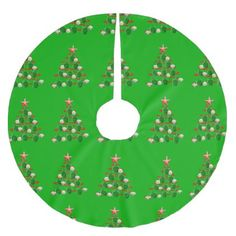 Green Sea Turtles Christmas Tree Brushed Polyester Tree Skirt - merry christmas diy xmas present gift idea family holidays