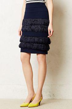 Fringe Pencils Skirt