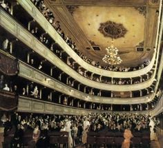 Gustav Klimt, The Old Burgtheater (1888).