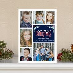 'Mistletoe Corners' #Christmas Cards by Petite Alma in Baltic Blue. #Holidays