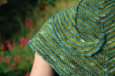 Ravelry: Curvaceous pattern by Larissa Brown. $1.09 until 10.11 #shawl #knitting #stripes