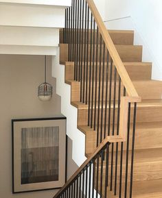 Modern Staircase Design Ideas - Stairs are so usual that you don't give them a doubt. Have a look at best 10 examples of modern staircase that are as spectacular as they are . Stairway Railing Ideas, Metal Stair Railing, Wood Handrail, Staircase Handrail, Stair Railing Design, Open Staircase, Bannister, Refinish Stairs, Escalier Design