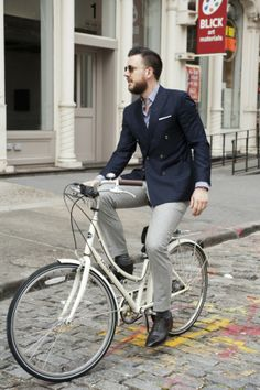 Suit Jacket and Bike