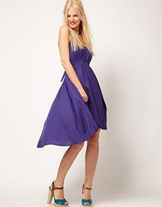 open back, straps, full skirt - love! :)