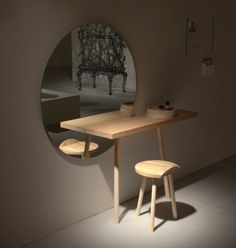 Minimalist Dressing Table Of European Ash | DigsDigs