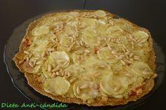 Dieta anti-cándida: PIZZA DE CALABACIN AL PESTO