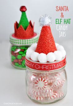 Christmas Gift You Can Make, Christmas Candy Gifts, Mason Jar Christmas Crafts, Christmas Crafts For Adults, Christmas Party Favors, Homemade Christmas Gifts, Christmas Diy, Holiday Candy, Cool Christmas Gift Ideas