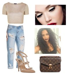 """""""❤️❤️❤️"""" by victoriamajors ❤ liked on Polyvore featuring One Teaspoon, Topshop, Valentino and Louis Vuitton"""