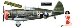 P-47D-22-RE (s/n 42-26293) coded 'UN-L' and named Belle of Belmont, flown by Lt. Armand A. Laflam of 63rd FS / 56th FG.