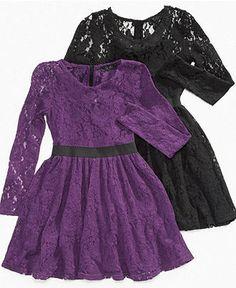 Jessica Simpson Kids Dress, Girls Lillian Lace Dress  - Macys Im already married..so I dont dream of dresses | Big Fashion Show kids dresses