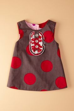Reversible Tux Dress - Grey & Red Dot by Right Bank Babies on @HauteLook
