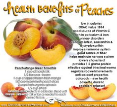 CANCER DIETS - Health Benefits of Peaches. Liver cleansing raw food cancer diet recipes for a healthy liver. Learn how to do an advanced liver flush protocol I LIVER tips food eating guide health Fruit Benefits, Health Benefits, Health And Nutrition, Health And Wellness, Health Facts, Health Care, Herbal Remedies, Natural Remedies, Health Remedies