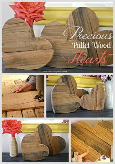 Pallet Hearts Collage