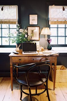 Vintage modern home office? Hmmm, if that's not a dichotomy, I'm not sure what is. There may not be such a design style, but that's the look I'm for in my home office. Last year I ditched my old white IKEA cabinets and tabletop for an old vintage pine desk. Kind of a nod to my dining Read More