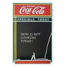 Coca Cola - Wood Chalkboard