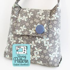 Daphne Handbag PDF Sewing Pattern | Purse Pattern | Shoulder Bag Sewing Pattern PDF | Sewing Project