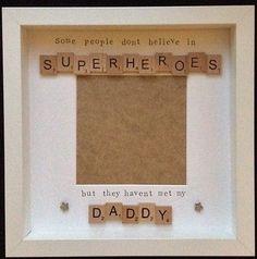 Handmade scrabble tile frame, perfect gift for daddy's | eBay