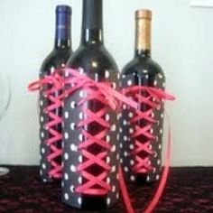 Corset covers for the champagne or wine favors