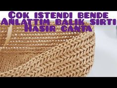 Balık sırtı Hasır çanta bags modeli #bags #stitch #tutorial #crochet - YouTube Knitting Designs, Knitting Patterns, Crochet Patterns, Handmade Wooden, Handmade Bags, Knitted Bags, Crochet Bags, Diy Bags Purses, Patchwork Bags