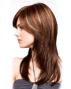 Haircuts For Medium Hair, Hairstyles With Bangs, Medium Hair Styles, Short Hair Styles, Layered Hairstyles, Long Layers With Bangs, Long Layered Hair, Long Hair Cuts, Brown Hair With Highlights