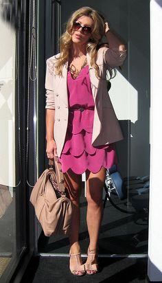 berry-scallop-dress-beige-blazer-4 by ...love Maegan, via Flickr
