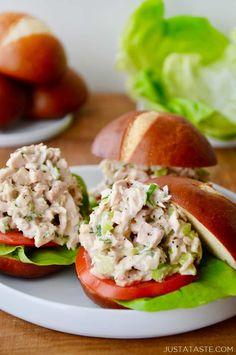 The Best Leftover Turkey Salad recipe from justataste.com #recipes #ThanksgivingRecipes #Healthy
