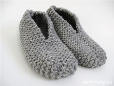 AnnyMay: Easy-to-do Knitting Slipper Pattern