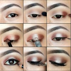 application using LORAC PRO PALETTE ( I adooreee this eye palette. The best for me)  I only used 3 colors anyway.  Outer & Inner Lid : Garnet Middle Lid : Nude Crease : Taupe