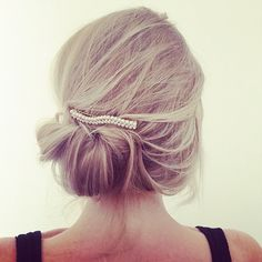 Messy buns with added hair clip