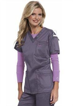 e1773e2d59a Med Couture media v-neck scrub top. Scrubs Outfit, Scrubs Uniform, Nursing