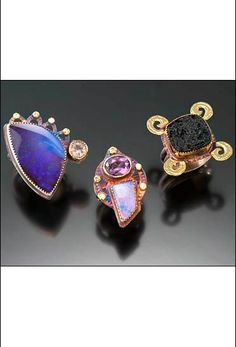 Julie Shaw Jewelry Designs - sterling silver, 18k gold, 22k gold, opals, rainbow moonstone, amethyst and tecktite
