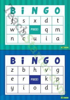 Uppercase Alphabet Bingo | 3e kleuterklas | Pinterest | Alphabet ...