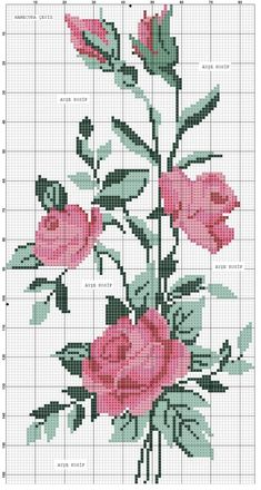 New Nature Pattern Flower Ideas Loom Beading, Beading Patterns, Flower Patterns, Pattern Flower, Cross Stitch Rose, Cross Stitch Flowers, Hand Embroidery Designs, Embroidery Patterns, Cross Stitch Designs