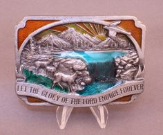 """1983 """"Let The Glory of the Lord Endure Forever"""" belt buckle by Siskiyou Buckle Co. available at our eBay store! Vintage Belt Buckles, Lord, Let It Be, Ebay, Fashion, Moda, Fashion Styles, Fashion Illustrations"""