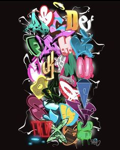 Love Graffiti, Graffiti Alphabet, Graffiti Lettering, Typography Logo, Hand Lettering, Calligraphy Fonts, Caligraphy, Drawing Sketches, Drawings