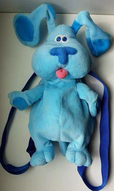 Blues Clues Dog Plush Toddler Backpack Bag Preschool Bookbag Boys Girls Stuffed  #BluesClues