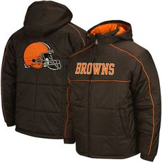 Cleveland Browns Brown Endzone Rush Full Zip Parka