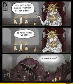 Devourer of Gods Aldrich,DSIII персонажи,Dark Souls 3,Dark Souls,фэндомы,Gwyndolin,DS персонажи,DS комиксы