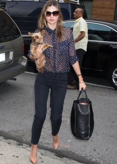 see what our favorite celebs wear while walking the dog!
