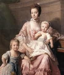 Queen Charlotte with two of her children