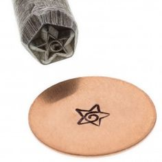 Star With Swirl Precision Design Stamp (Whimsical Series)