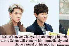 Exo Facts. awww evil maknae XP I like Chanyeol's singing :) <- I LOVE CHANYEOL'S SINGING <3