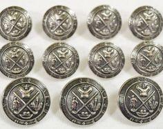 MetalBlazerButtons.com~ Silver Heraldic Shield Metal Sport Coat ...