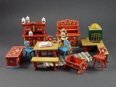 Vintage Set 15pc. German Bavarian Furniture Doll by ZeldaAndSkott